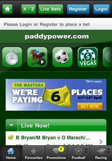 Paddy Power Blackbery App