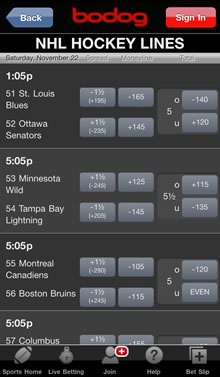 Bodog Canadian Bookie App