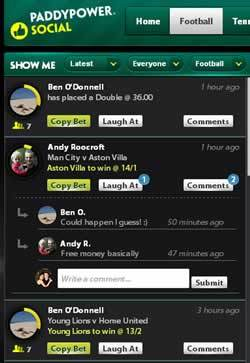 PaddyPower Facebook Social